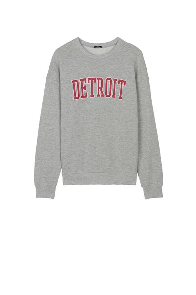 Printed Round Neck Sweatshirt