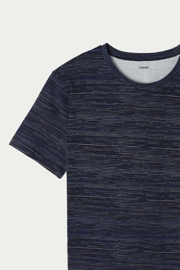 Shaded Stretch Cotton T-Shirt