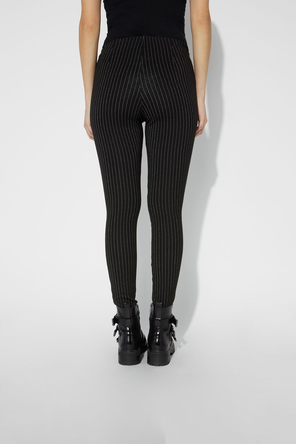 Striped Lamé Leggings