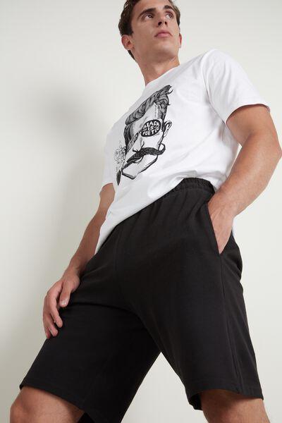 Shorts aus Baumwollpikee