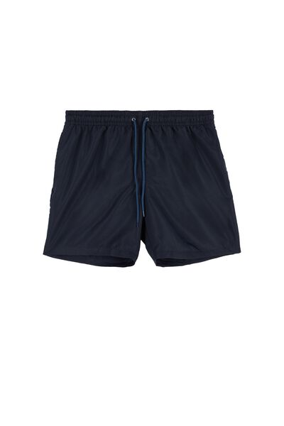 Canvas Swimming Shorts with Piping