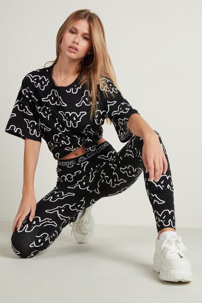 All-Over Kappa Logo Cotton Leggings