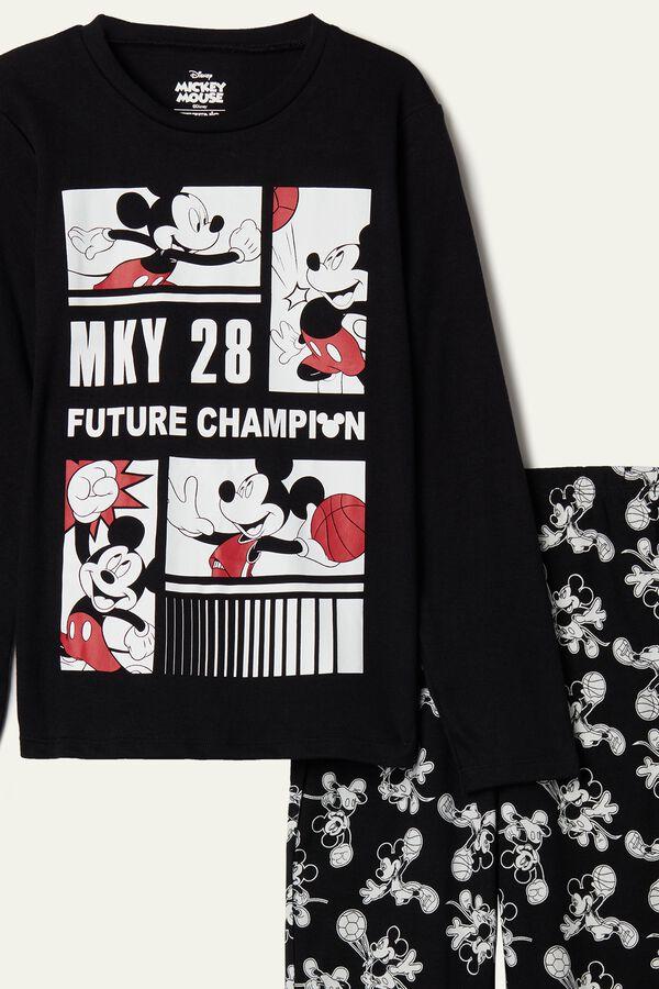 "Boy's Mickey Mouse ""Future Champion"" Long Cotton Pyjamas"