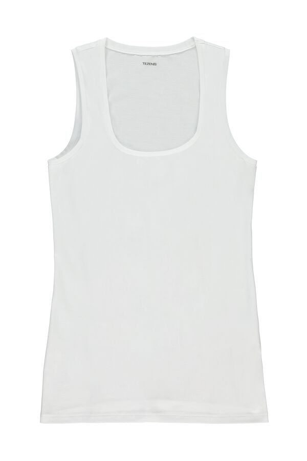 Stretch-Cotton Vest Top