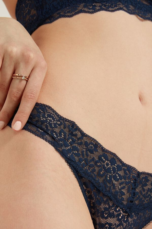 High-Cut Recycled Lace G-String