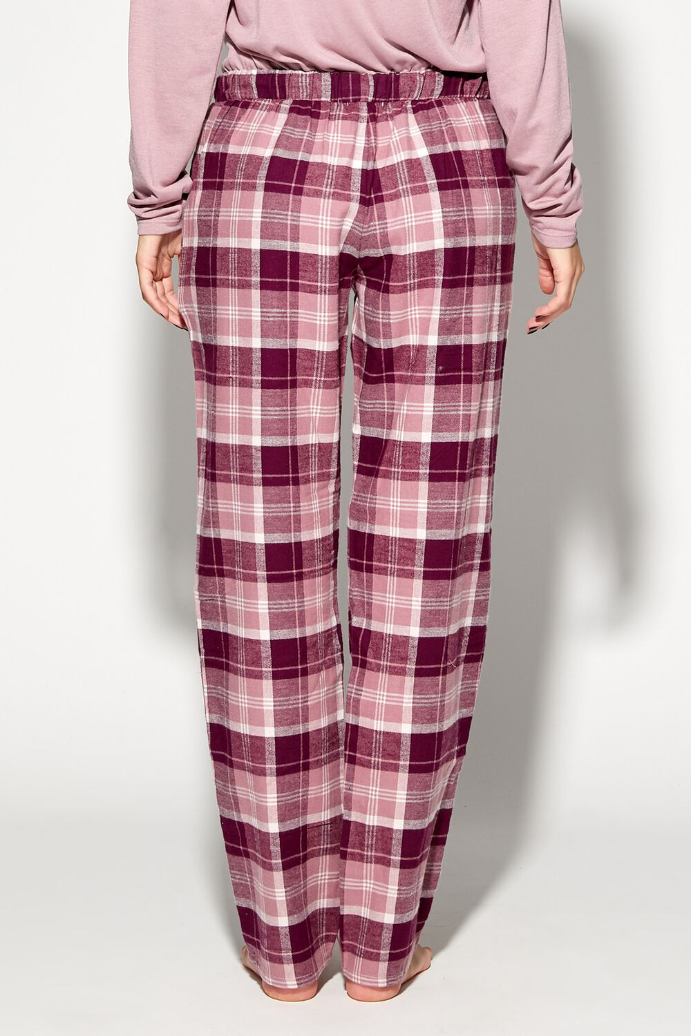 Long Flannel Trousers with Drawstring