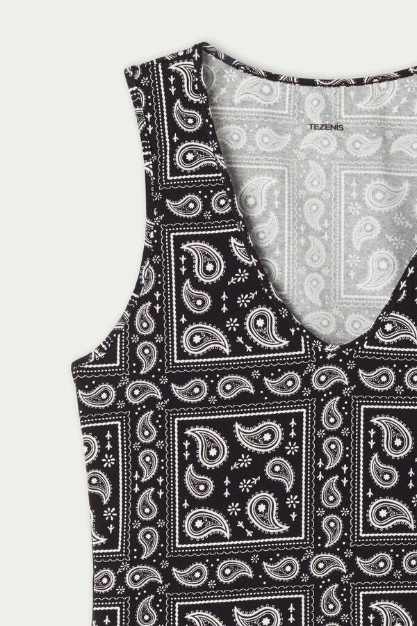 Rounded V-Neck Cotton Camisole