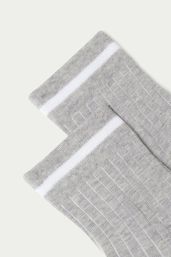 Krátké Bavlněné Ponožky se Vzorem