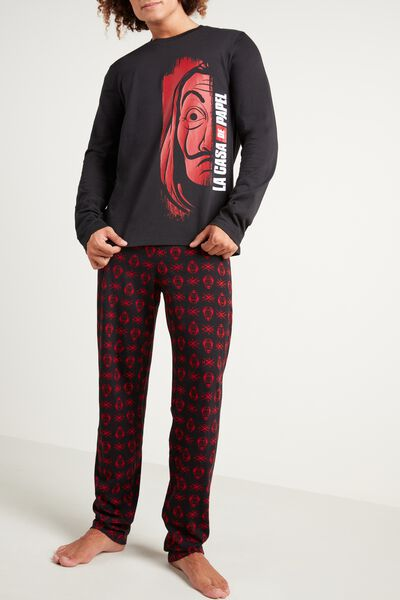 "Men's ""La casa de papel"" Print Long Pyjamas"