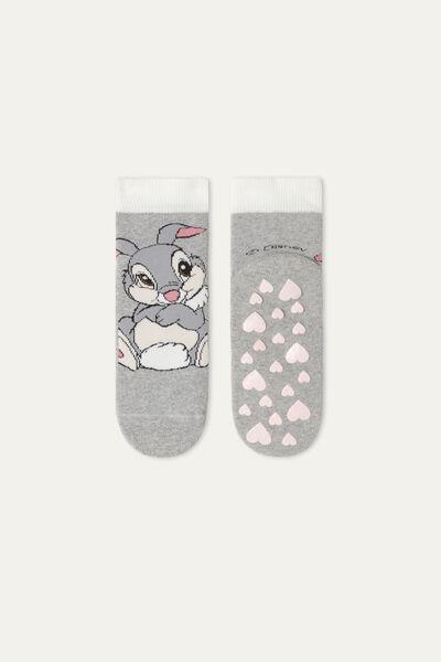 Unisex Non-Slip Socks with Disney Bambi & Thumper Embroidery