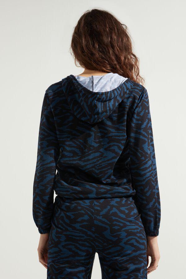 Hoodie Sweatshirt with Zipper and Drawstring