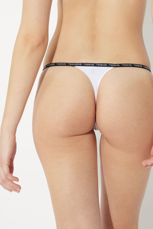 Natural Cotton Thong