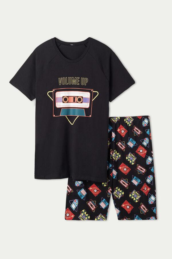 "Men's ""Volume Up"" Print Short Pyjamas"
