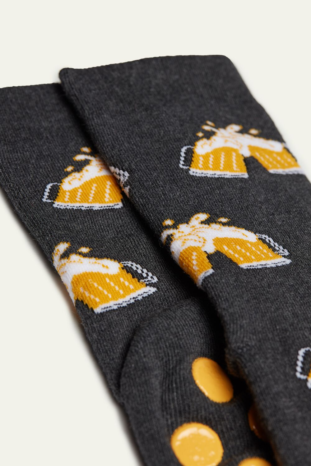 Non-Slip Socks with Beer Print