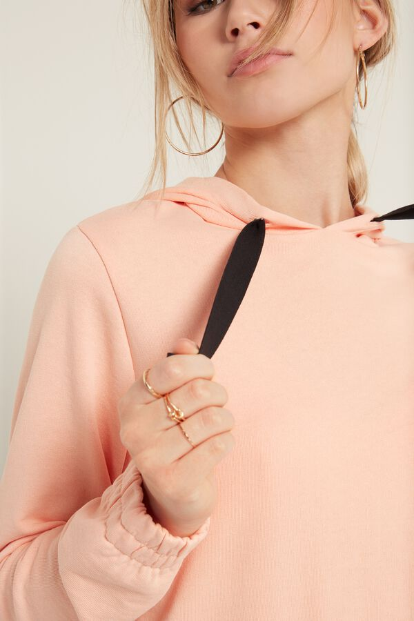 Lightweight Laser-Cut Raw Hooded Sweatshirt