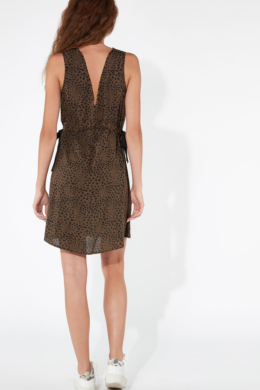 Viscose Frilled Dress