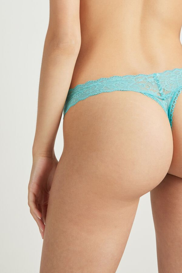 High-Leg-Cut Lace G-String