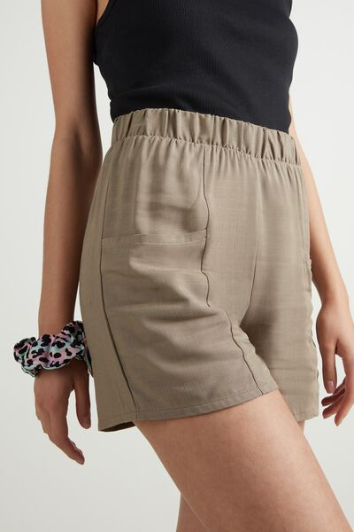 Fabric Shorts with Pockets