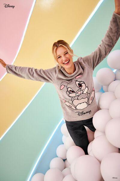 Long Fleece Pyjamas with Disney Thumper Patch
