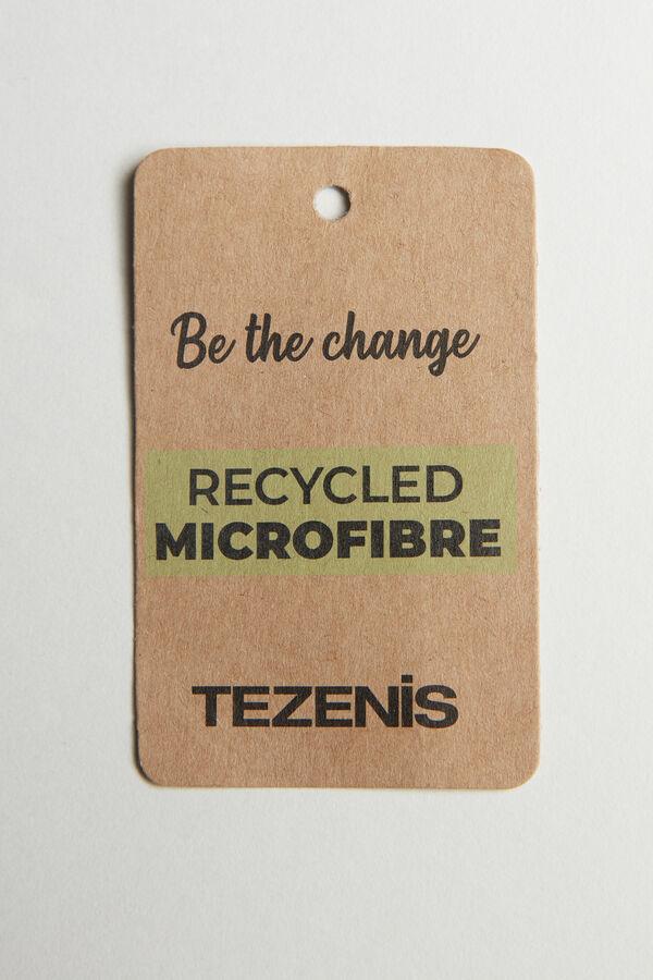 Gesmokte Bikinihose aus recycelter Mikrofaser mit Seitenbändern
