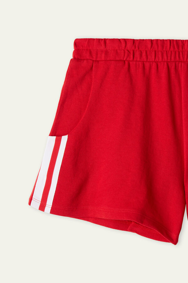 Cotton Fleece Shorts with Band