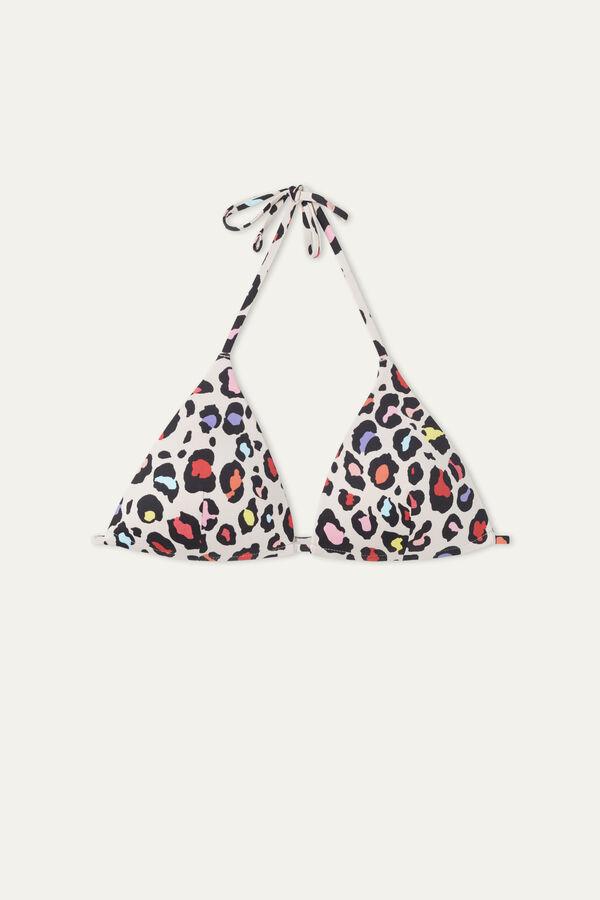 Animal Colours Triangle Bikini Top