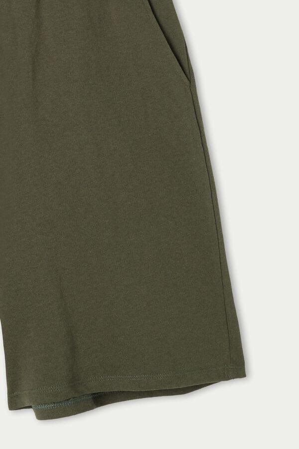 Bermudashorts aus leichtem Sweatstoff mit Taschen