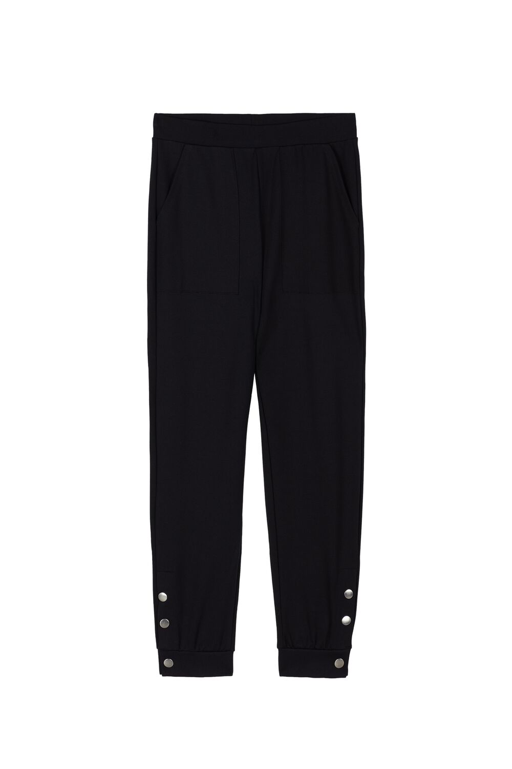 Milano-Stitch Joggers with Buttons on the bottom