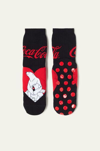Meias Antiderrapantes Coca Cola