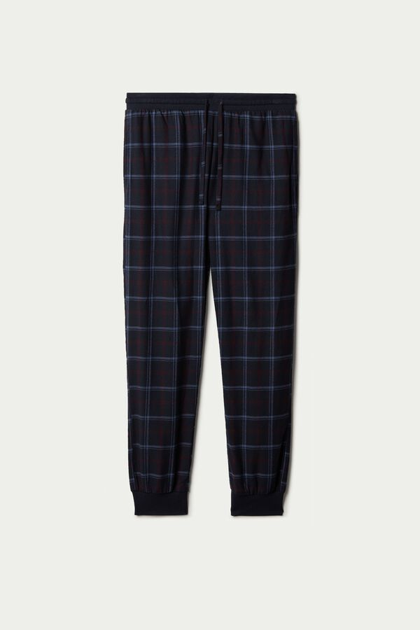 Flannel Trousers with Cuffs