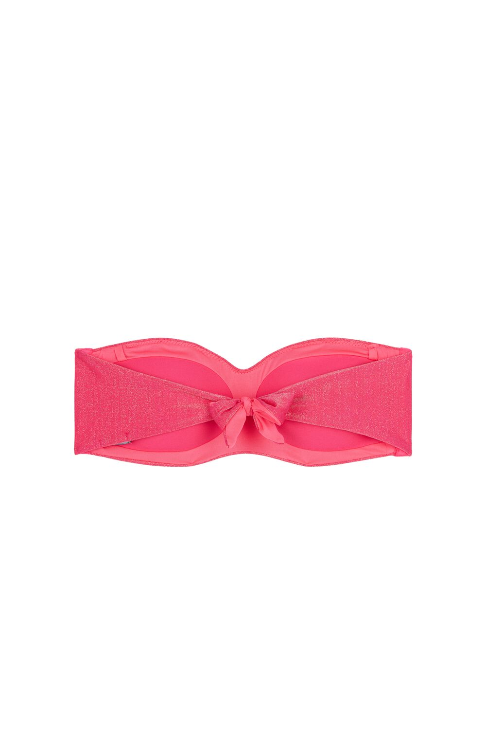 Glowing Summer Fuchsia Bandeau Bikini