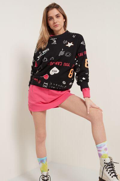 Langarm-Sweatshirt mit Allover-Print