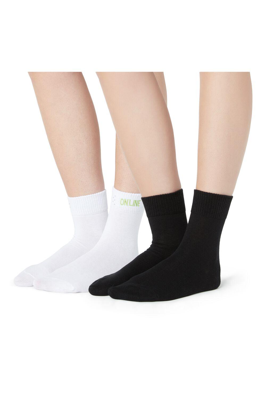 2 X Socks with Appliqués