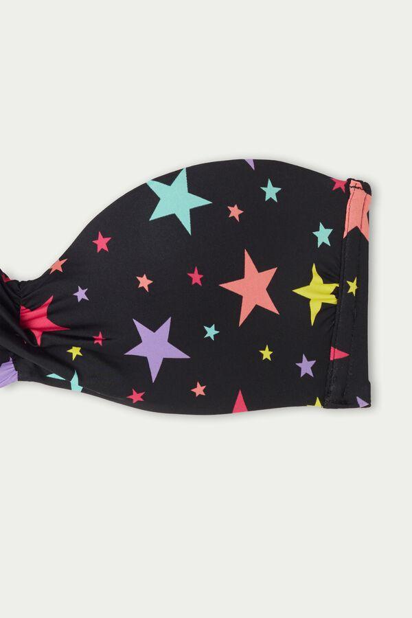 Haut de Maillot Bandeau avec Nœud Color Stars