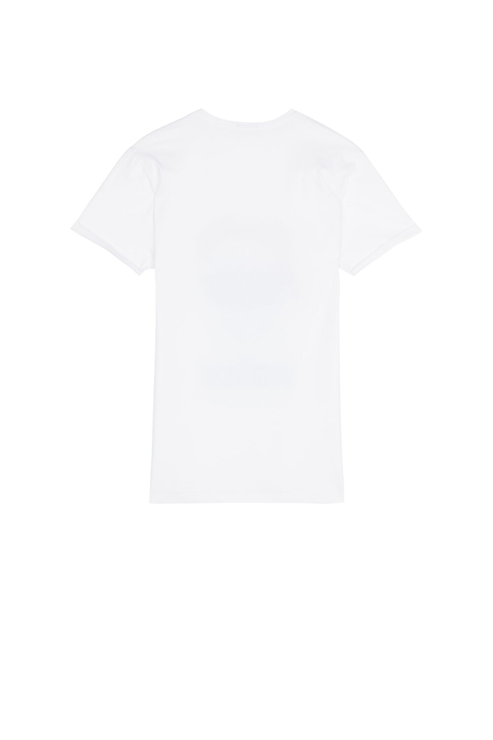 Cotton T-Shirt with Rolled-Up Sleeves