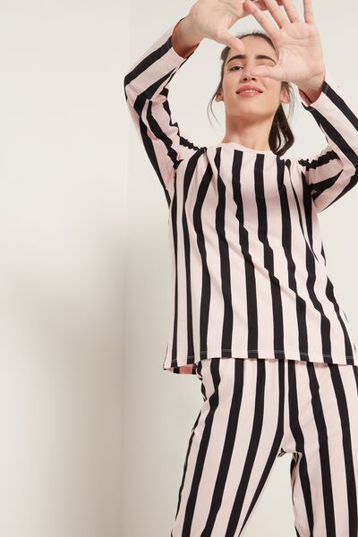 Striped Long Cotton Pyjamas