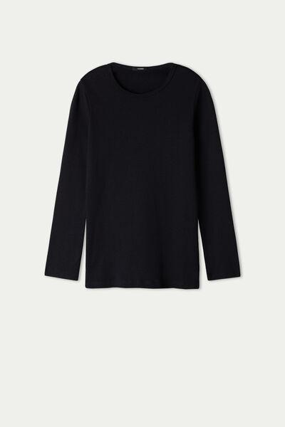 Unisex langarmshirt aus warmer Baumwolle