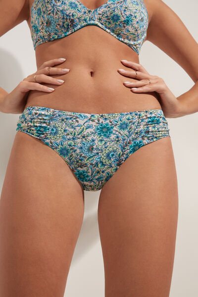 Slip Bikini Talie Înaltă Sweet Flowers