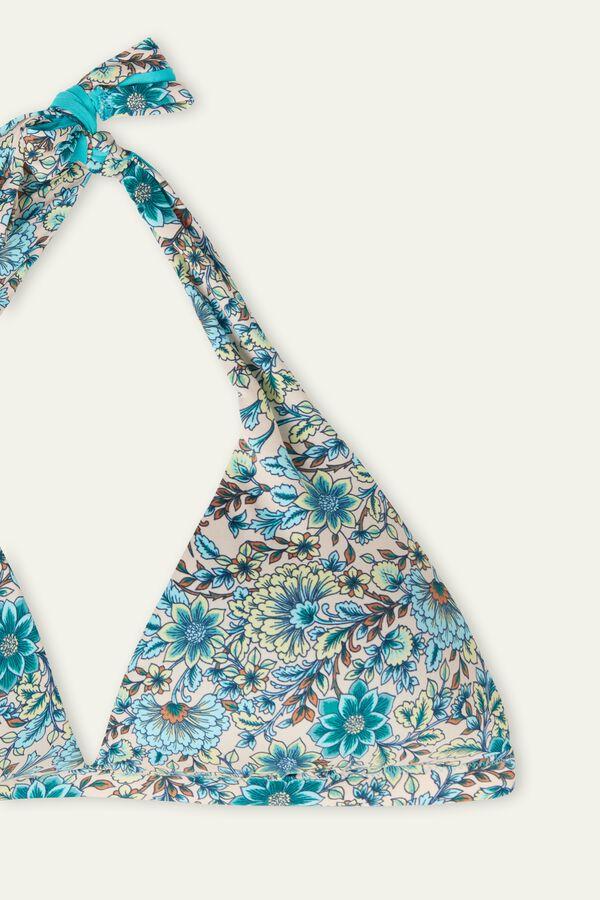Σουτιέν Μπικίνι Τρίγωνο με Φαρδιές Τιράντες Sweet Flowers