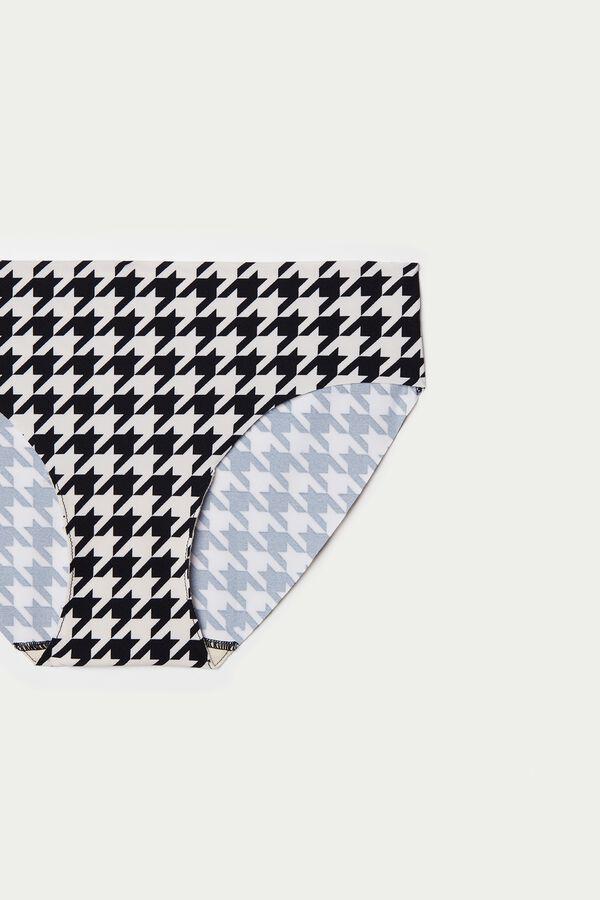 Raw Edge Panties in Printed Microfiber