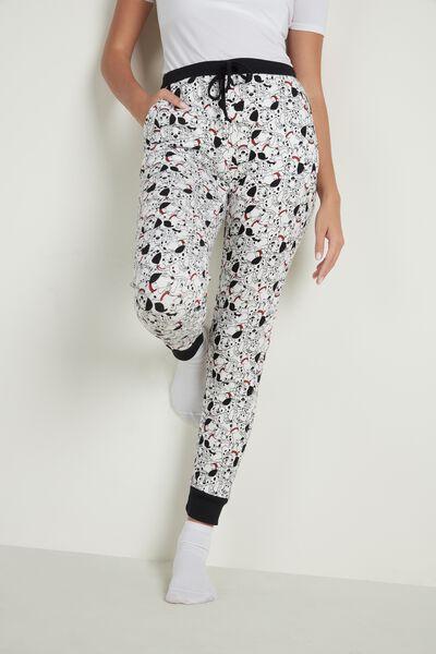 Dlouhé Disneyovské Kalhoty z Hrubé Bavlny 101