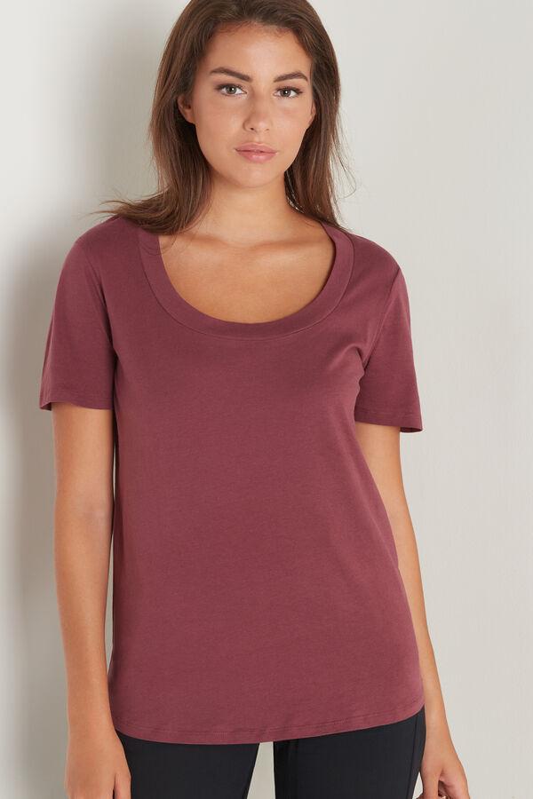Scoop Neck Cotton T-Shirt