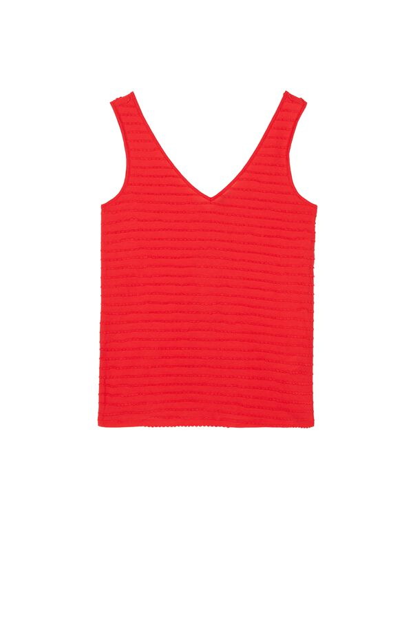 V-Neck Hooded Cotton Camisole