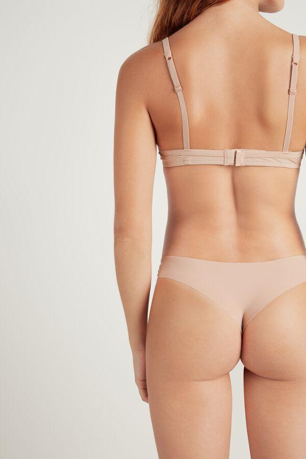 Raw-Edge Brazilian Panties in Microfibre and Lace