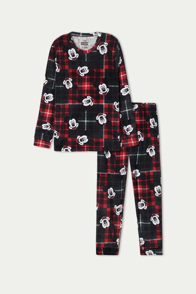 Unisex Kids' Mickey Mouse Micro Fleece Long Pyjamas