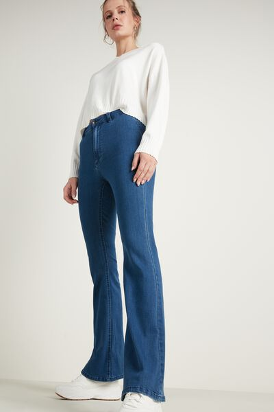 High-Waist Bell-Bottom Jeans