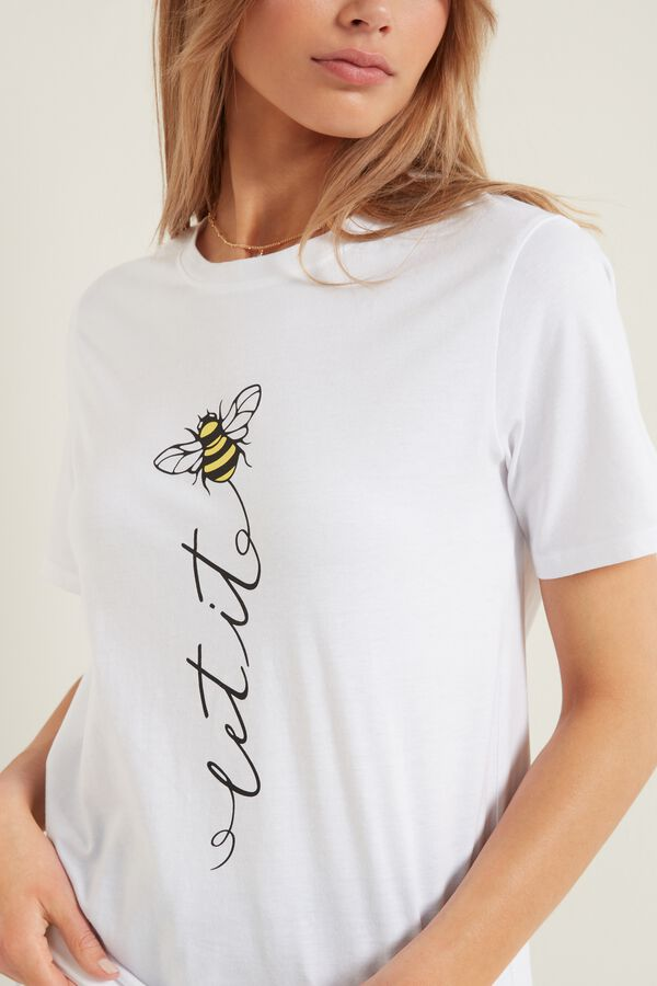 Bee Print Organic Cotton T-Shirt
