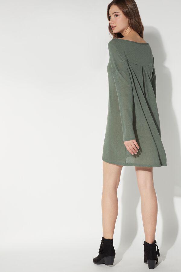 Oversized Dress in Crepe
