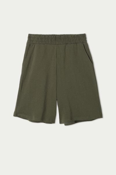 Light Fleece Bermuda Shorts with Pockets