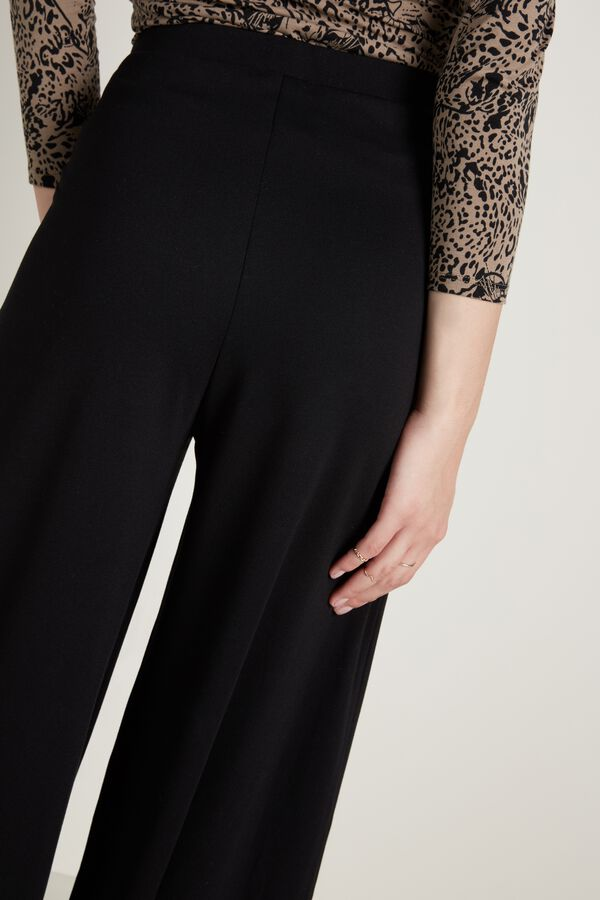 Palazzo Pants with Darts and Pockets